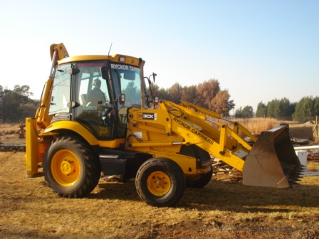 Our TLB which we use in our builders Yard