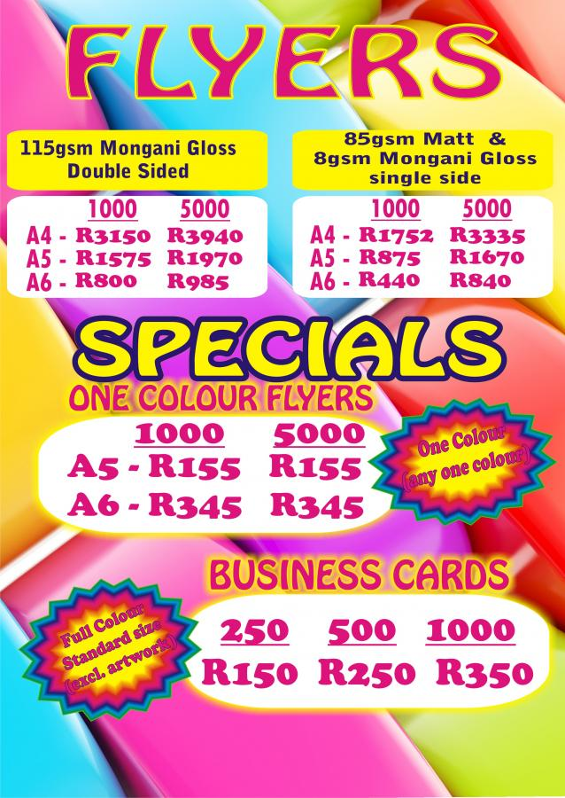Flyers And Business Cards Johannesburg Choice Image - Card Design ...